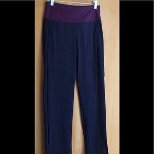 Kinona Golf Pants blue with purple plum waistband